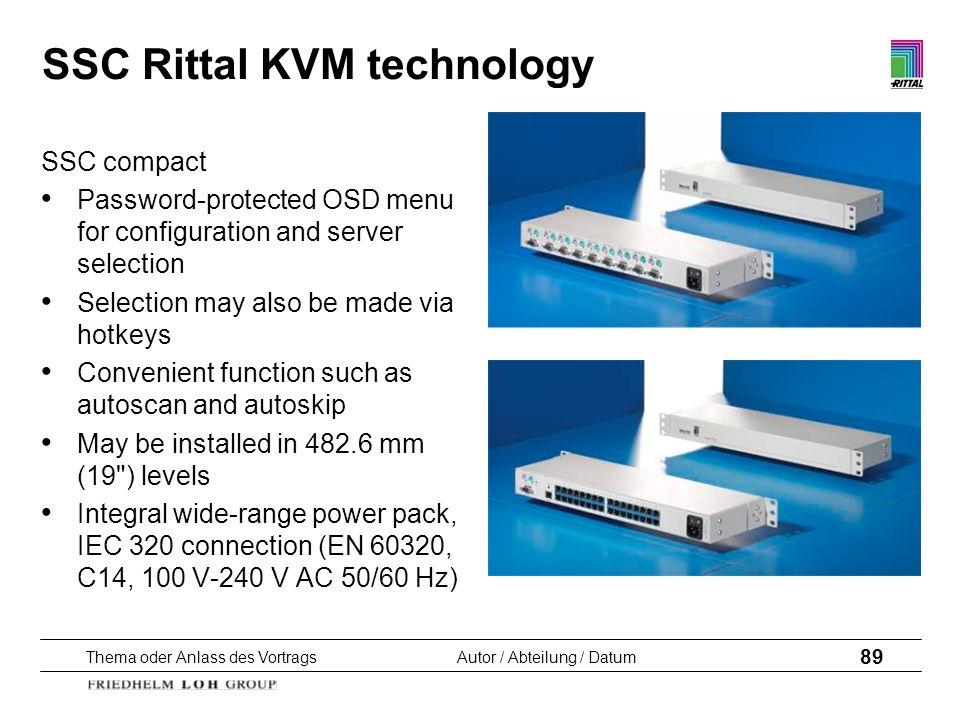 SSC Rittal KVM technology