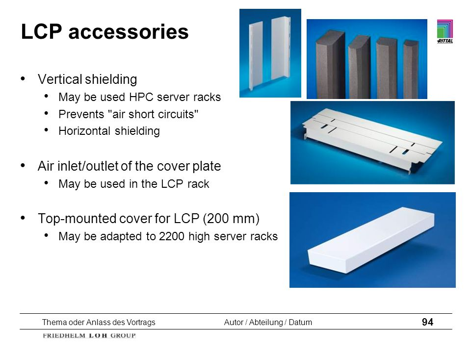 LCP accessories Vertical shielding Air inlet/outlet of the cover plate