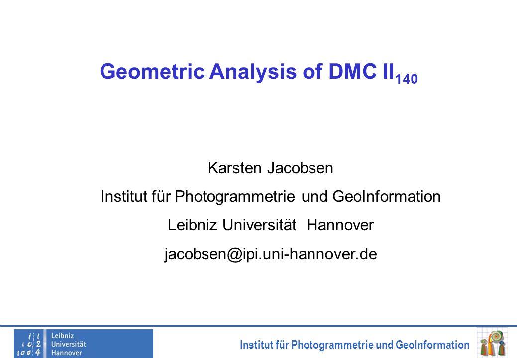 Geometric Analysis of DMC II140
