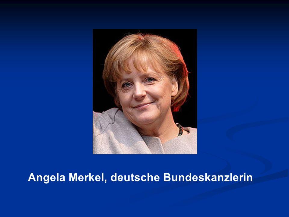 Angela Merkel, deutsche Bundeskanzlerin