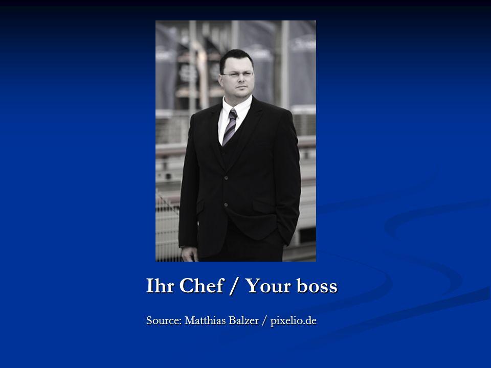 Ihr Chef / Your boss Source: Matthias Balzer / pixelio.de