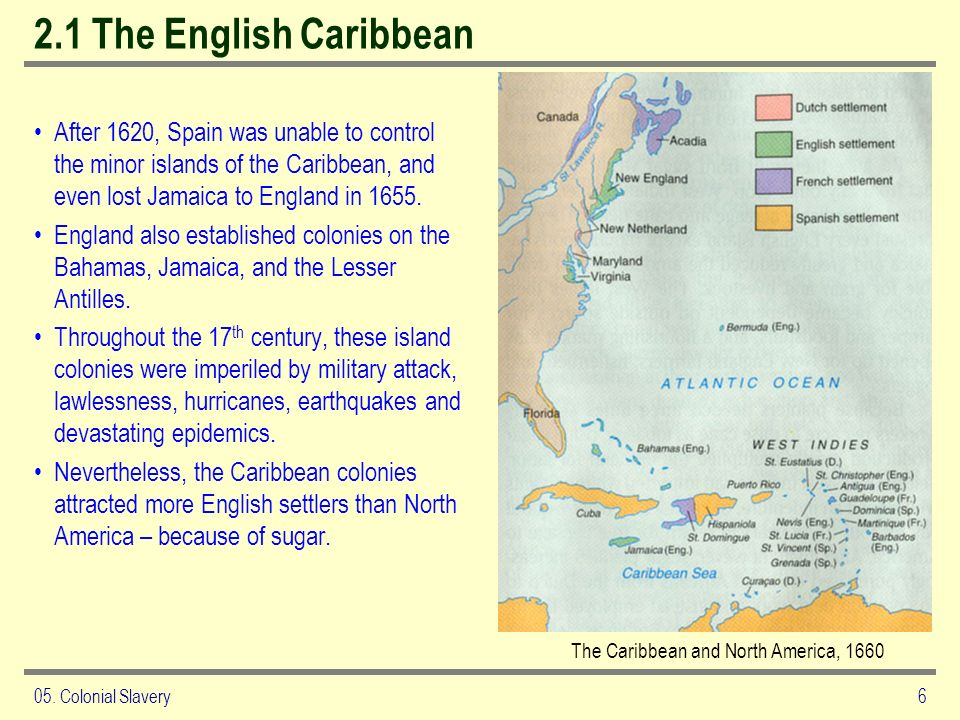 The Caribbean and North America, 1660