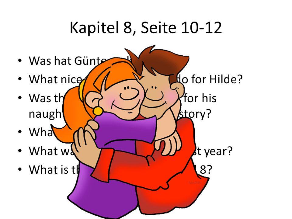 Kapitel 8, Seite 10-12 Was hat Günter gekauft
