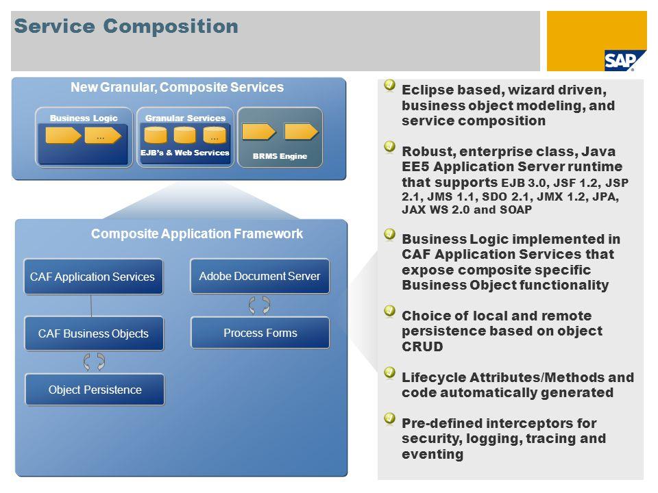 New Granular, Composite Services Composite Application Framework