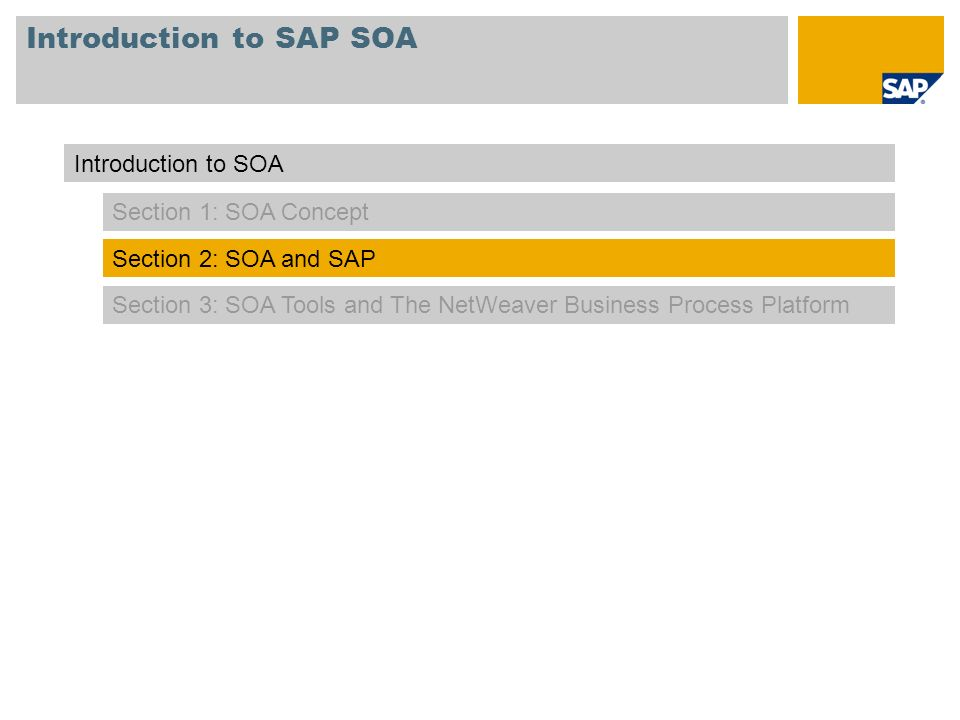 Introduction to SAP SOA