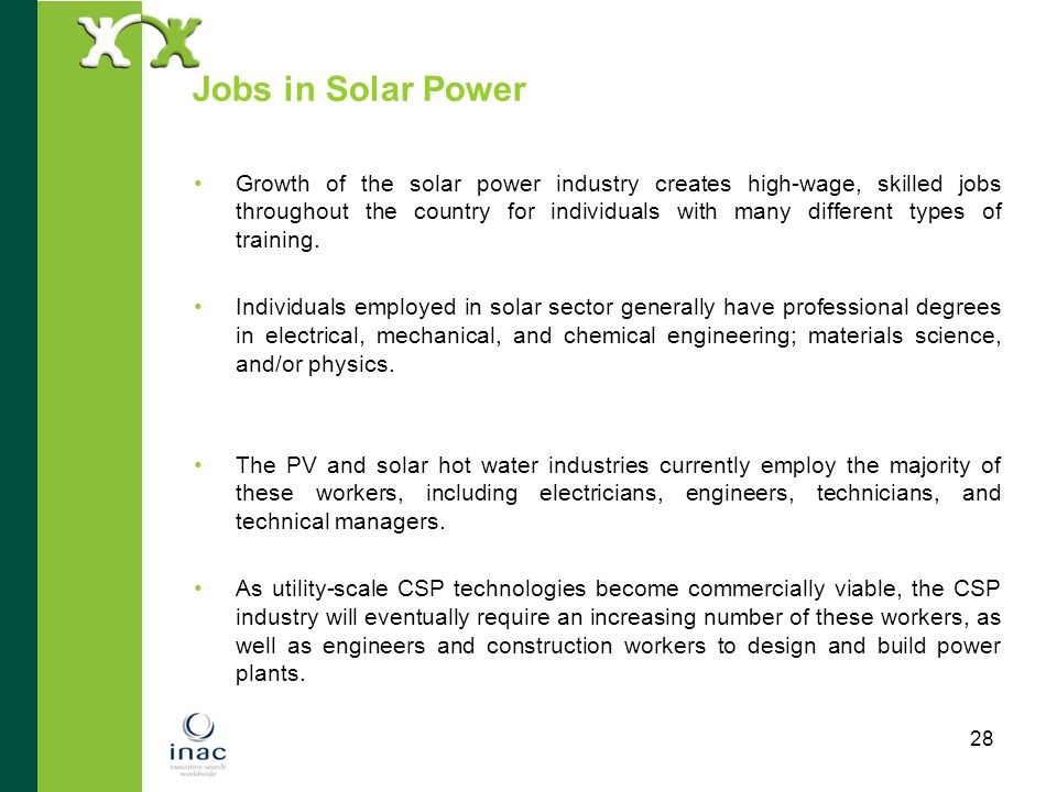 Jobs in Solar Power