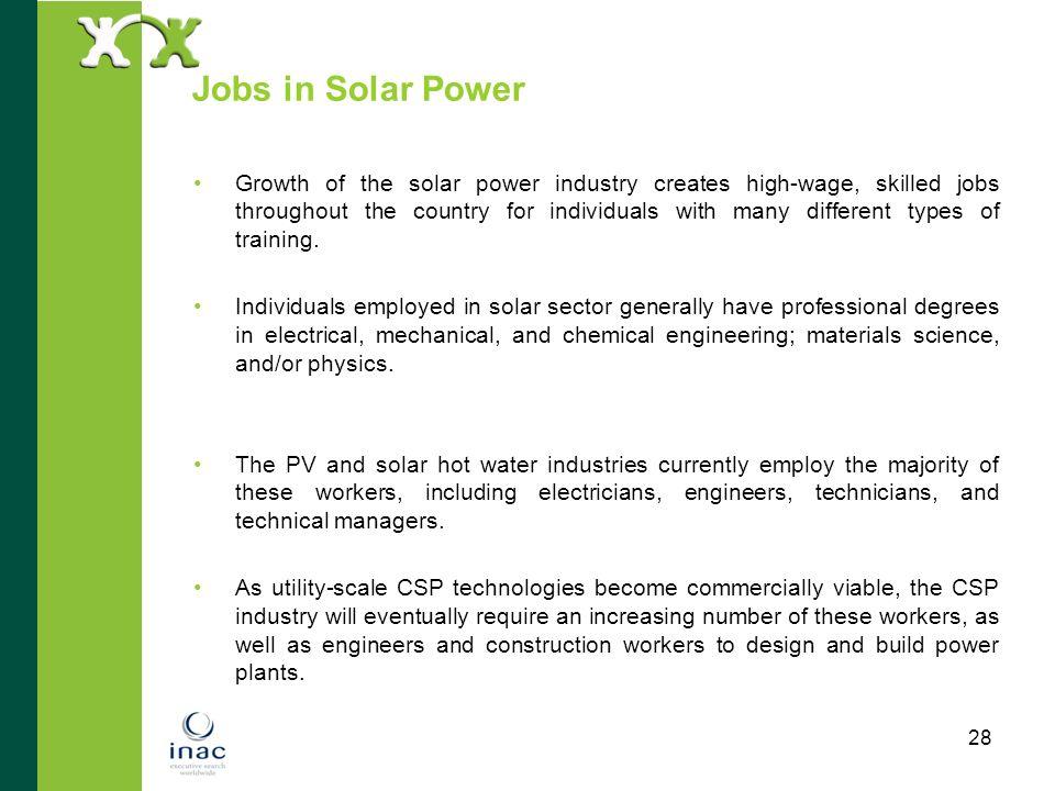 Jobs in Solar Power
