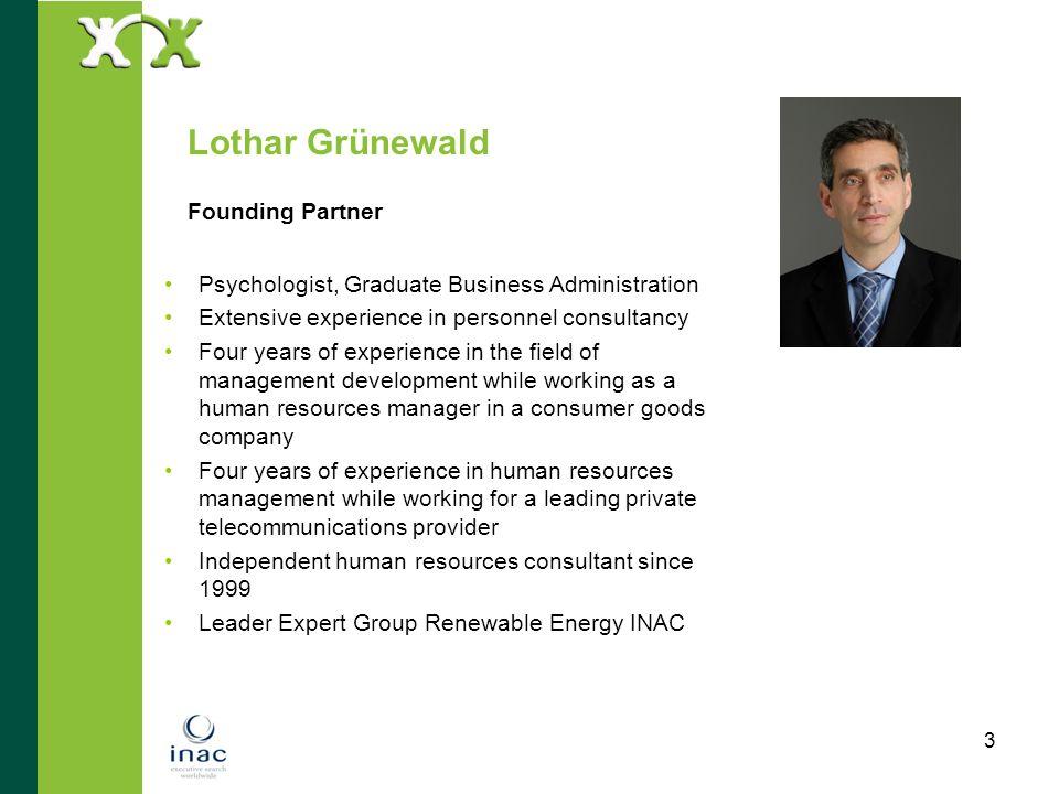 Lothar Grünewald Founding Partner