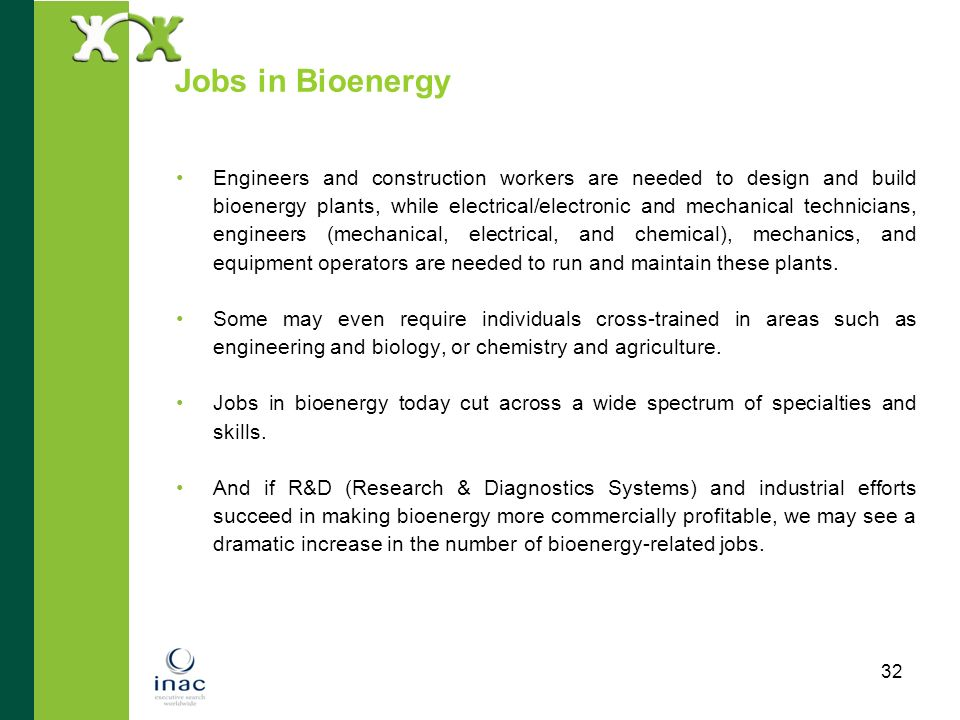 Jobs in Bioenergy