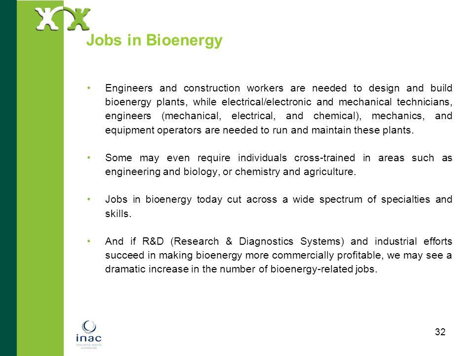 Jobs in Bioenergy