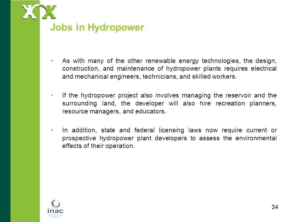 Jobs in Hydropower