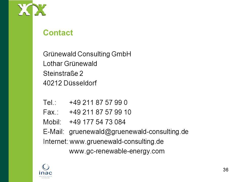 Contact Grünewald Consulting GmbH Lothar Grünewald Steinstraße 2