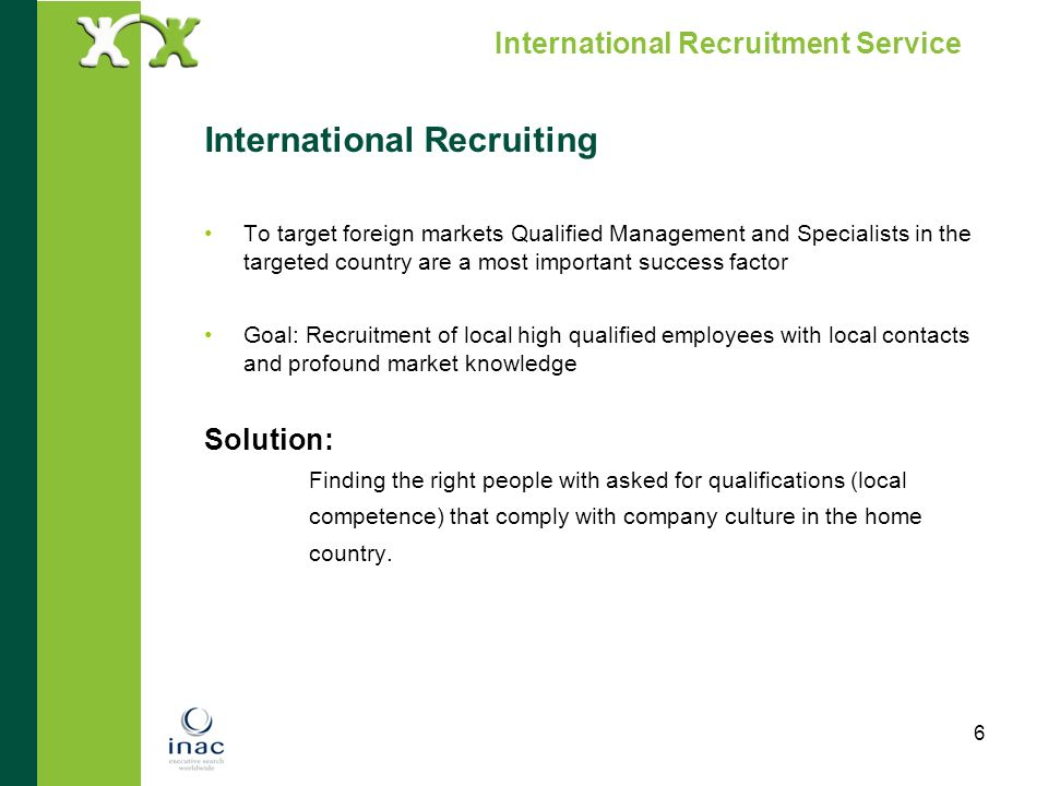 International Recruitment Service