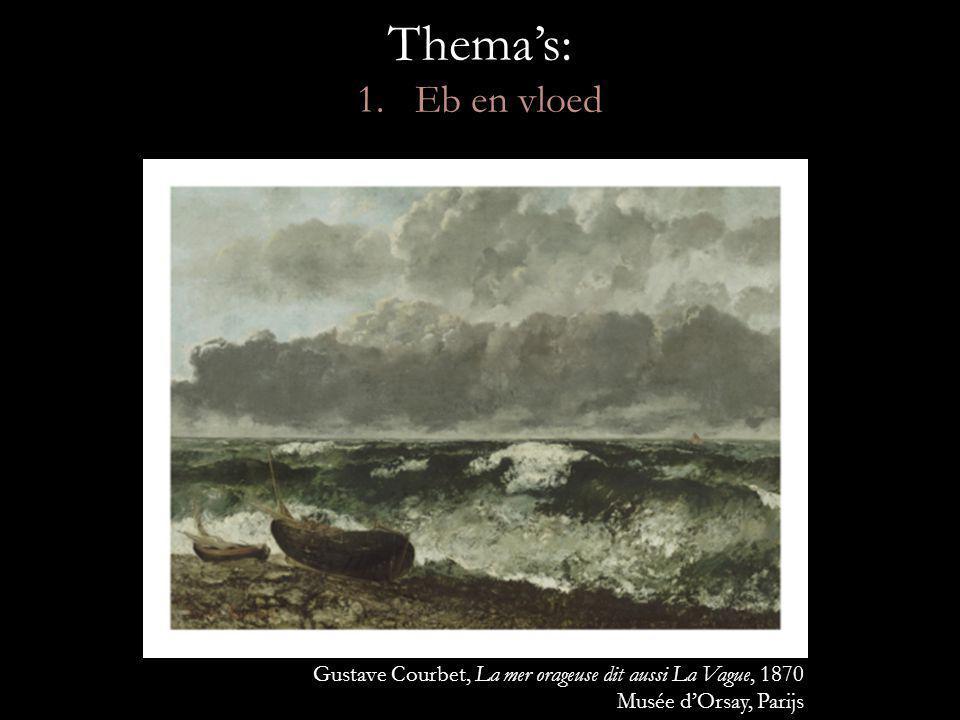 Thema's: 1. Eb en vloed Gustave Courbet, La mer orageuse dit aussi La Vague, 1870. Musée d'Orsay, Parijs.