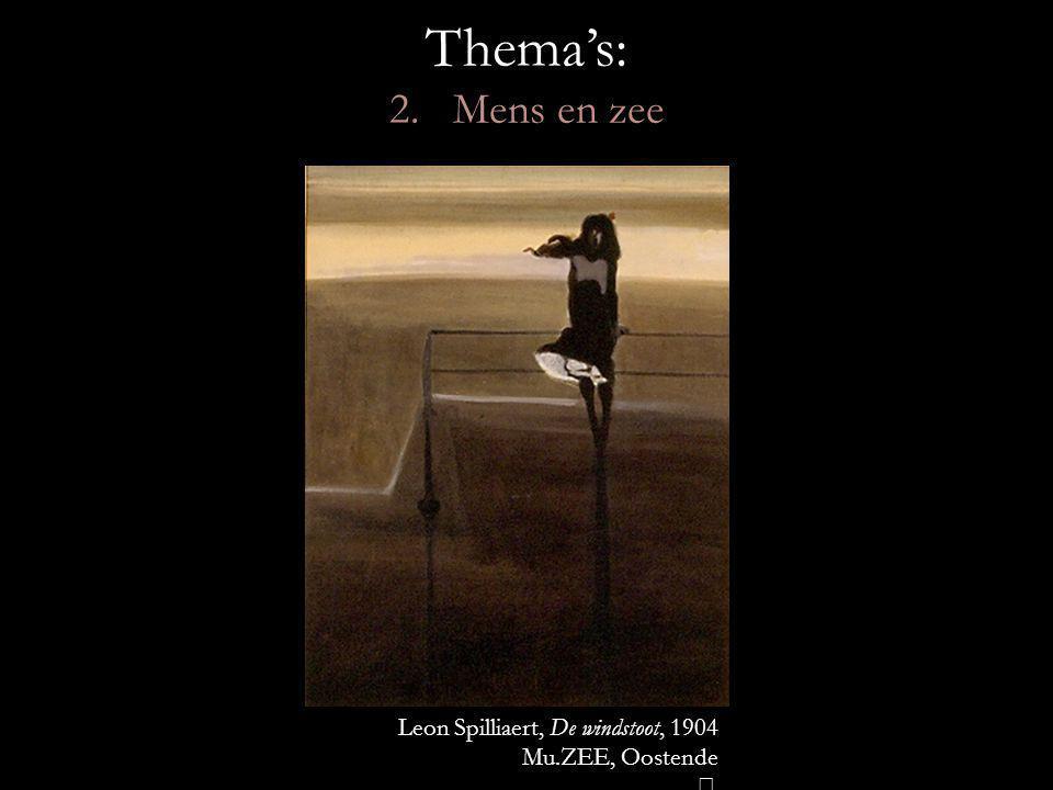 Thema's: 2. Mens en zee Leon Spilliaert, De windstoot, 1904