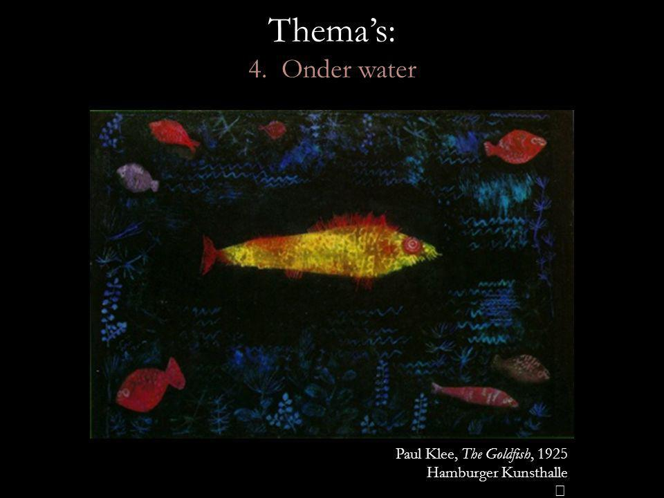 Thema's: 4. Onder water Paul Klee, The Goldfish, 1925