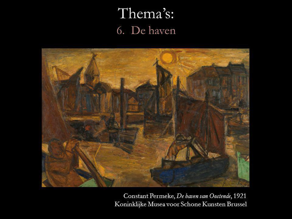 Thema's: 6. De haven Constant Permeke, De haven van Oostende, 1921