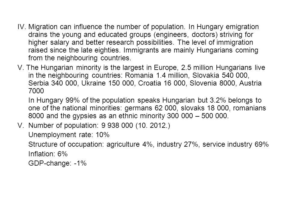 IV. Migration can influence the number of population