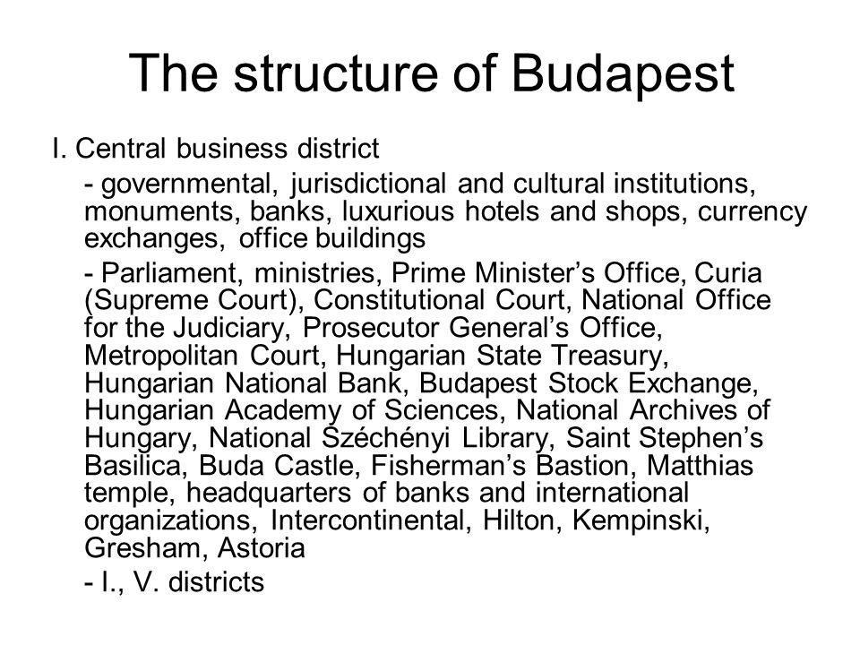 The structure of Budapest