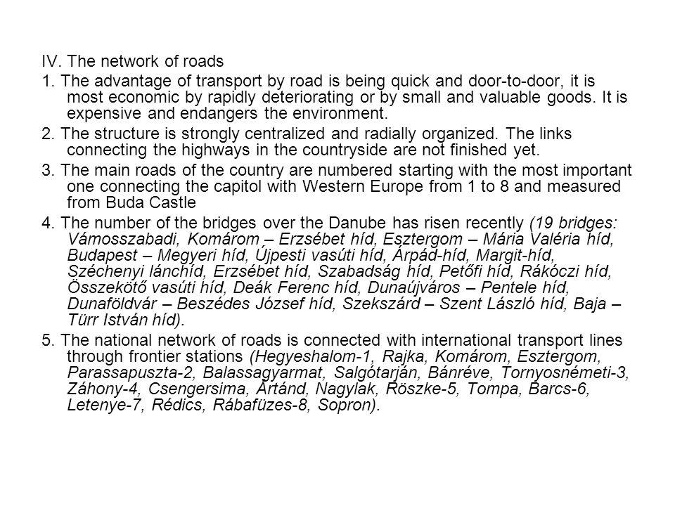 IV. The network of roads