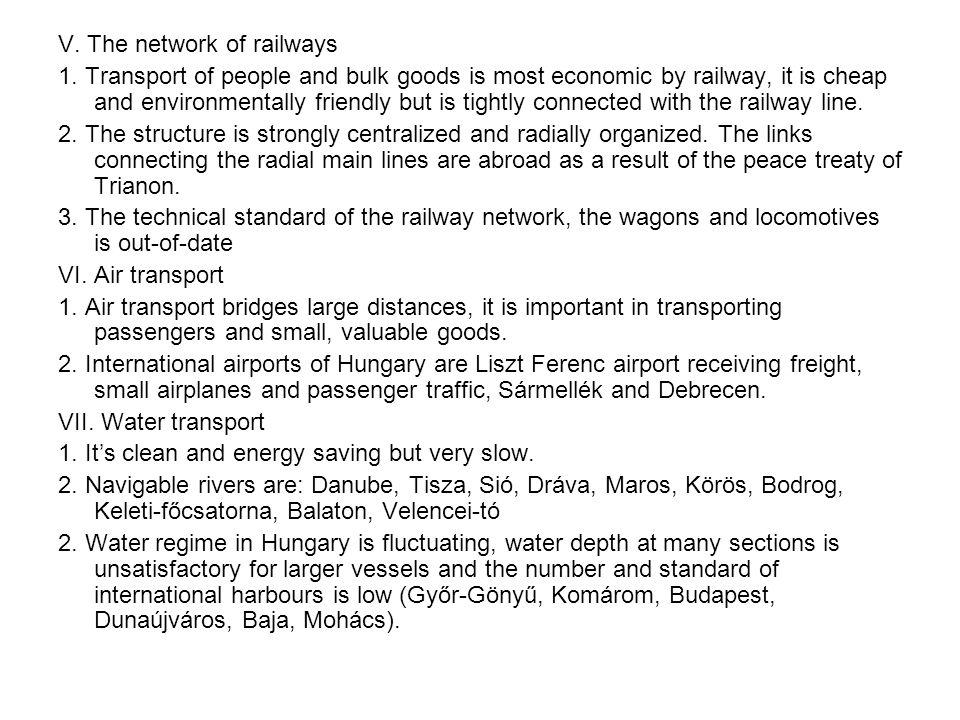 V. The network of railways