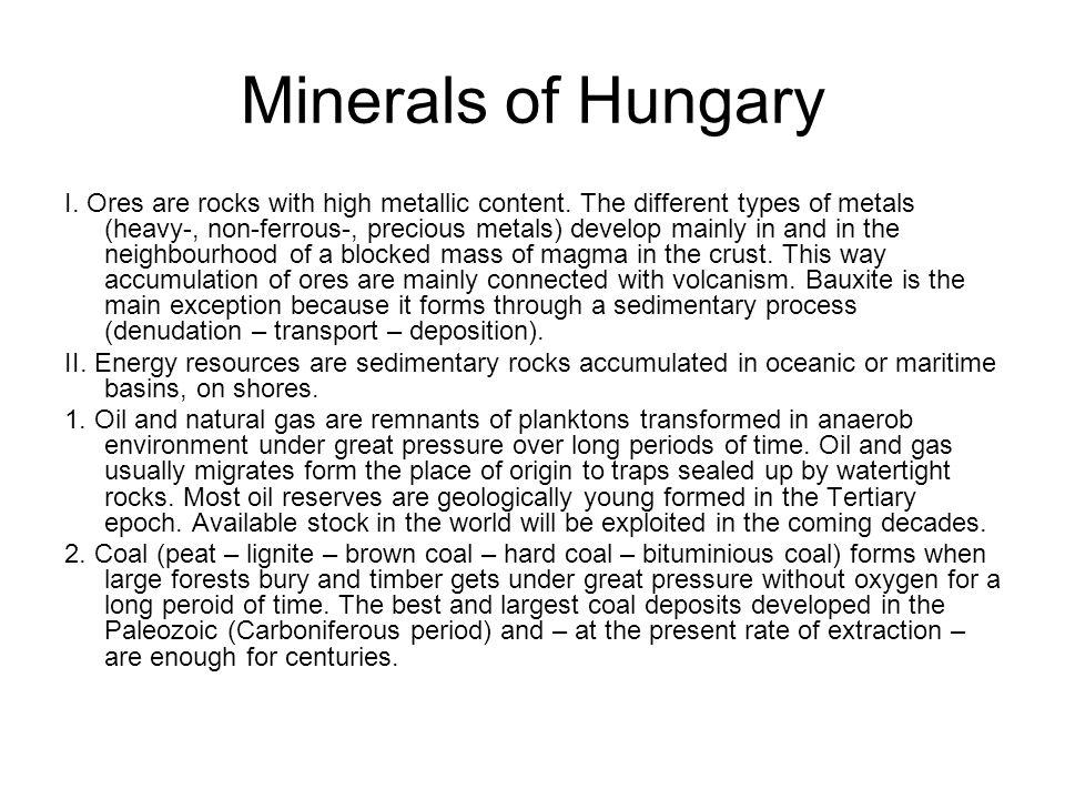 Minerals of Hungary