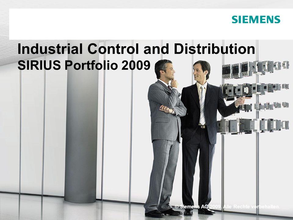 Industrial Control and Distribution SIRIUS Portfolio 2009