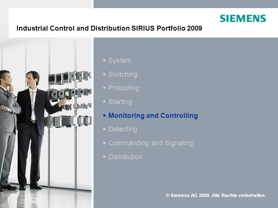 Industrielle Schalttechnik SIRIUS Portfolio 2009