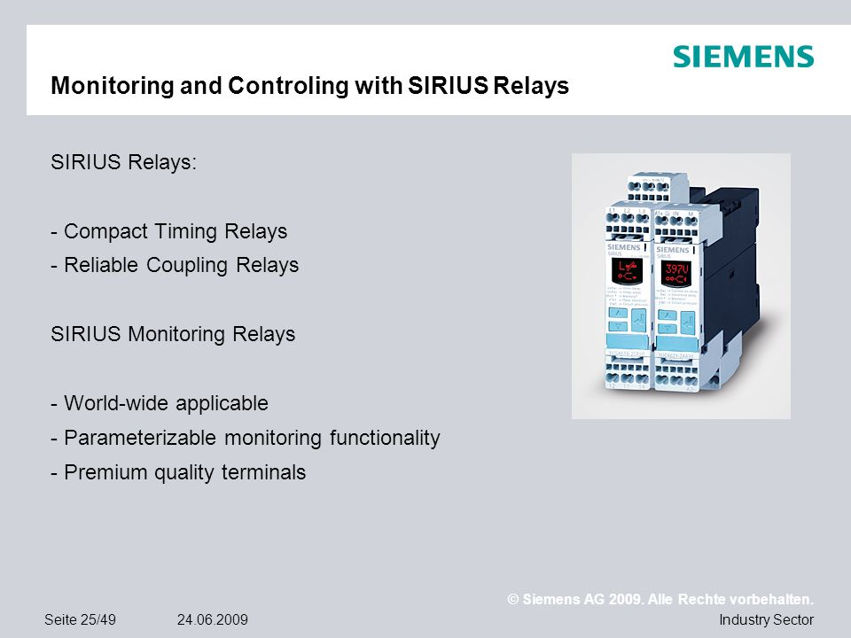 Monitoring and Controling with SIRIUS Relays
