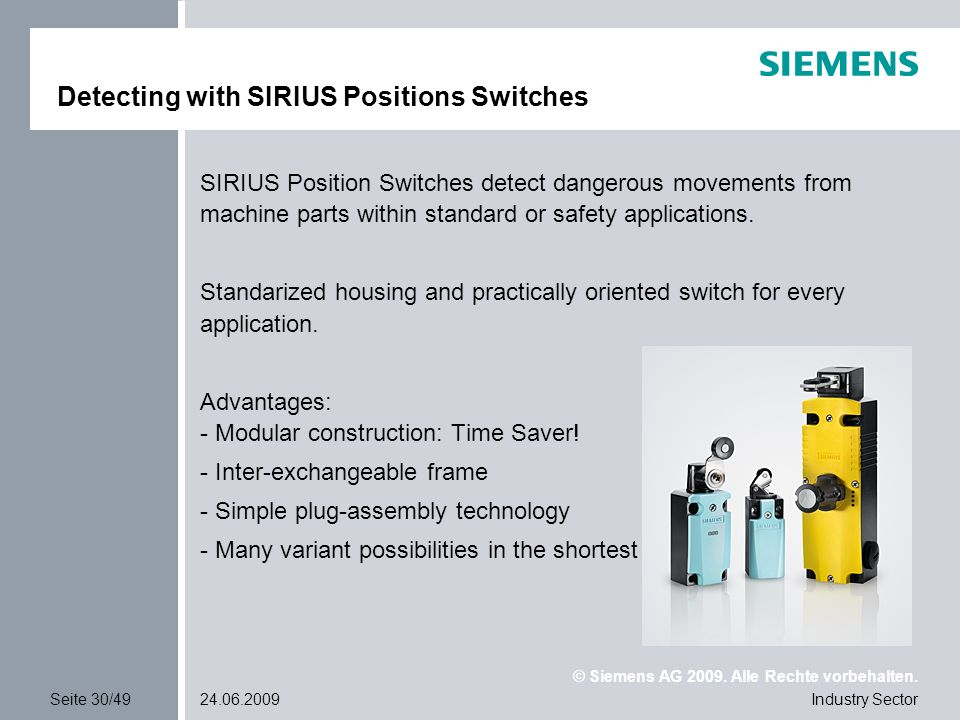 Detecting with SIRIUS Positions Switches