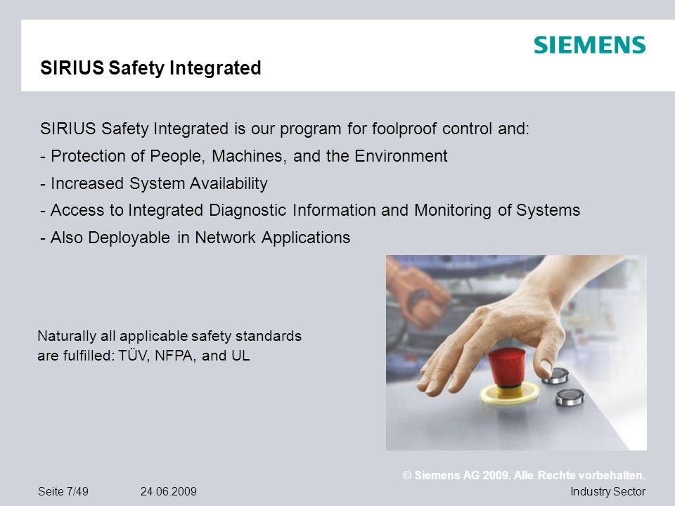 SIRIUS Safety Integrated