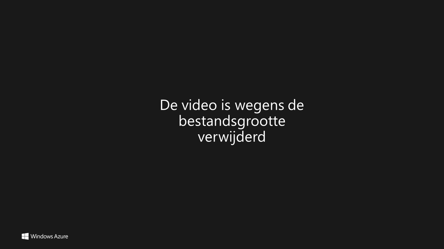 De video is wegens de bestandsgrootte verwijderd