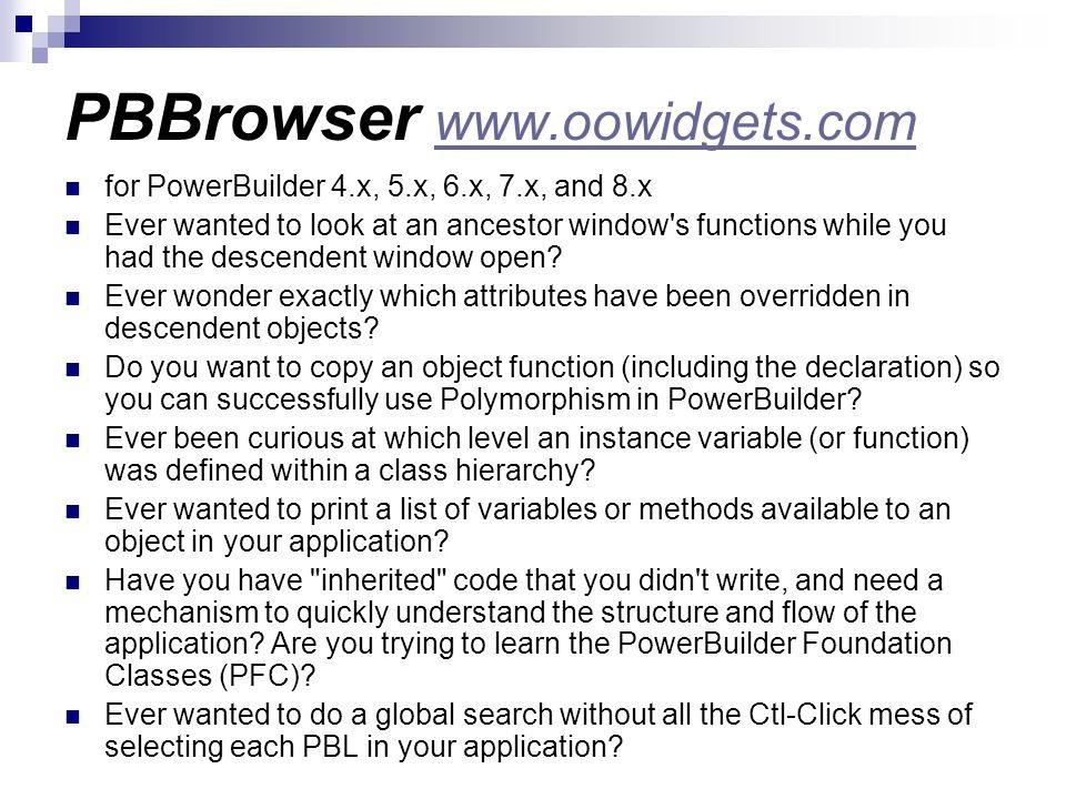 PBBrowser www.oowidgets.com