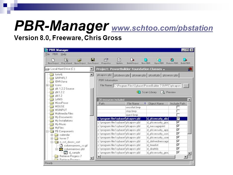 PBR-Manager www. schtoo. com/pbstation Version 8