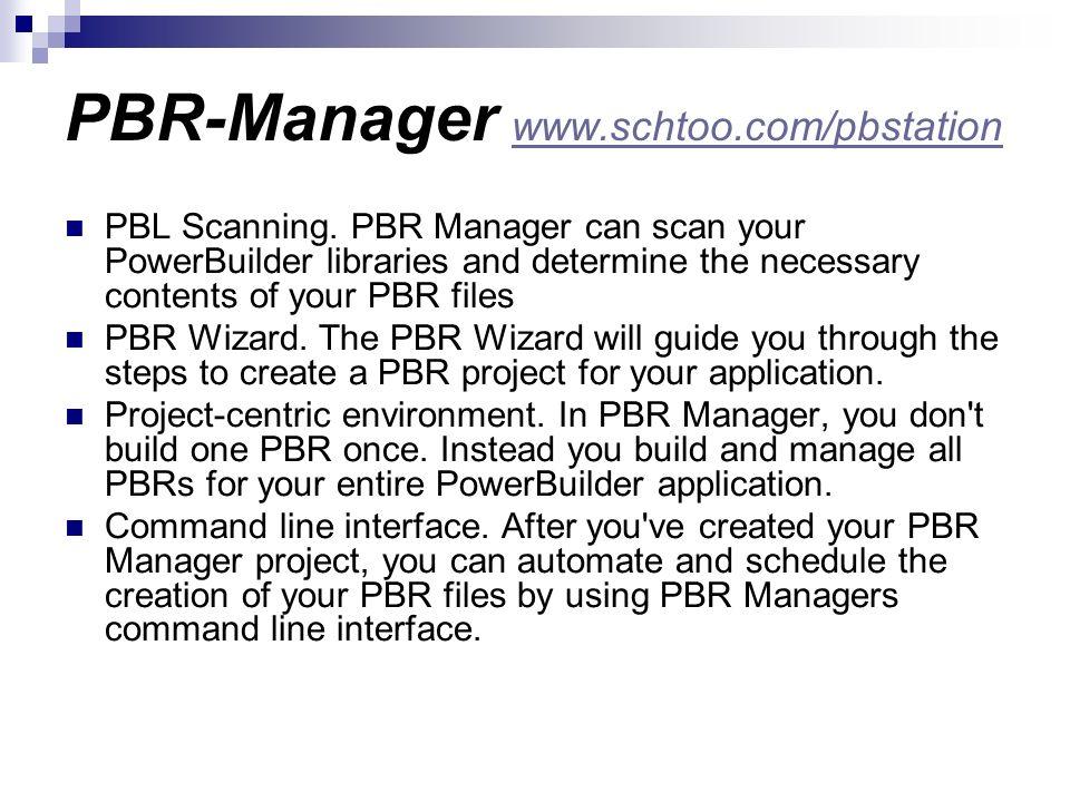 PBR-Manager www.schtoo.com/pbstation