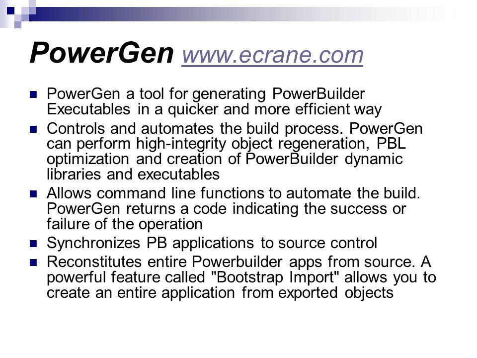 PowerGen www.ecrane.com