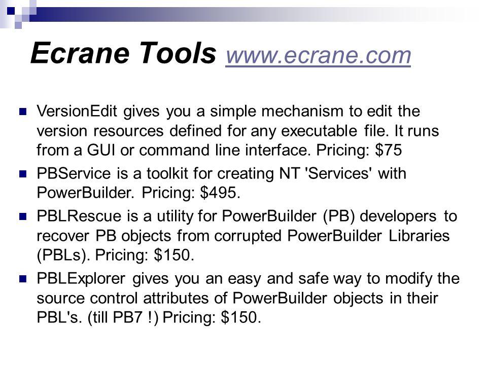 Ecrane Tools www.ecrane.com