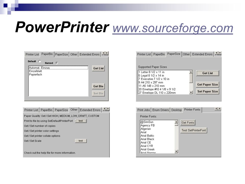 PowerPrinter www.sourceforge.com