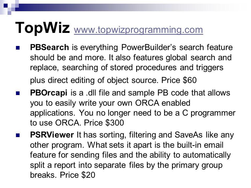 TopWiz www.topwizprogramming.com