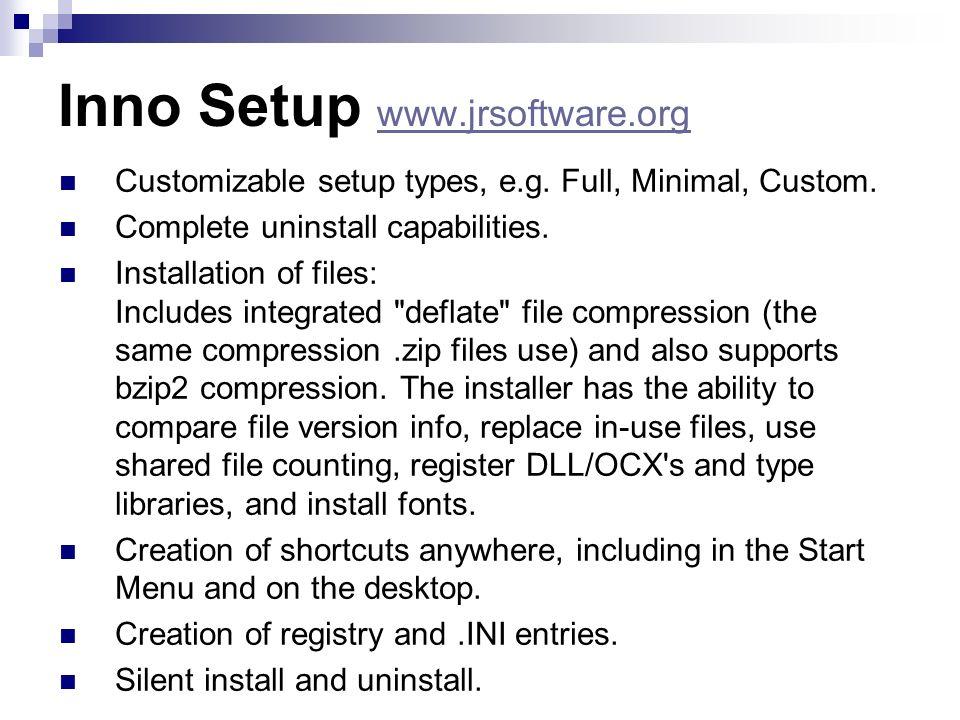 Inno Setup www.jrsoftware.org