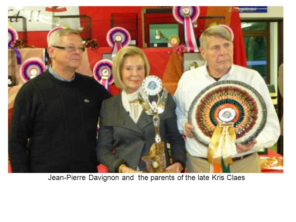 Jean-Pierre Davignon and the parents of the late Kris Claes