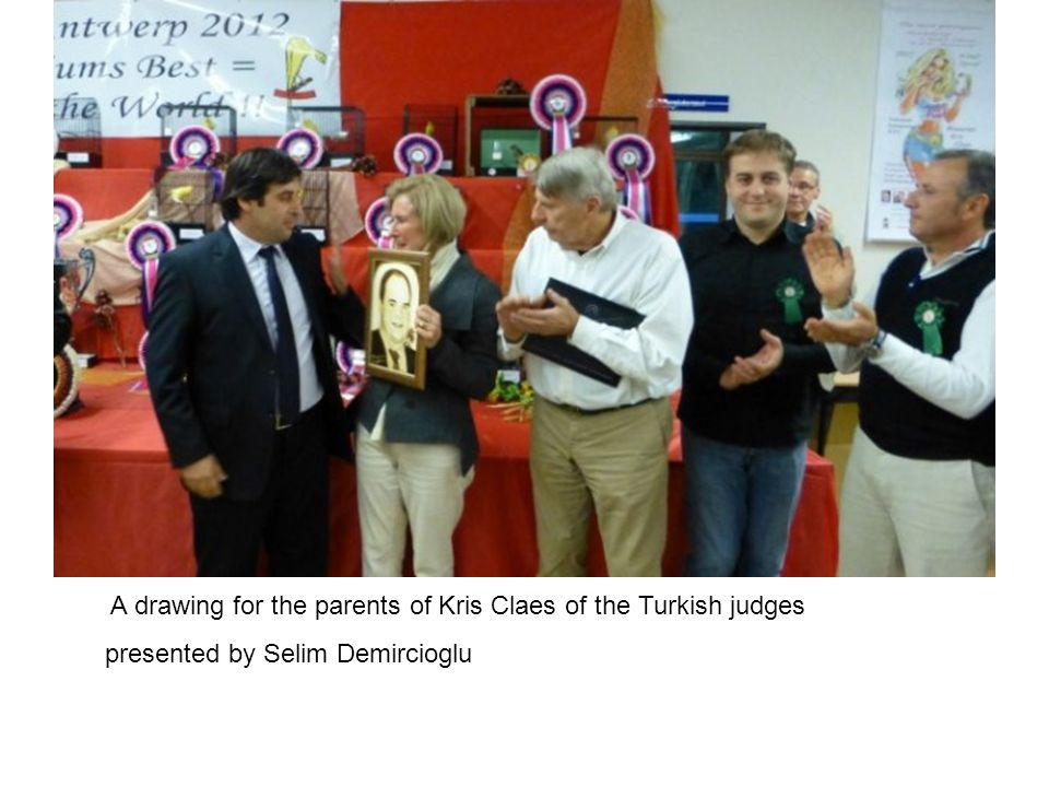 A drawing for the parents of Kris Claes of the Turkish judges