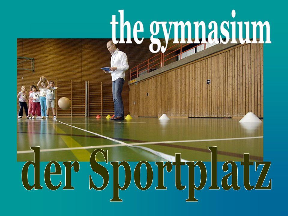 the gymnasium der Sportplatz