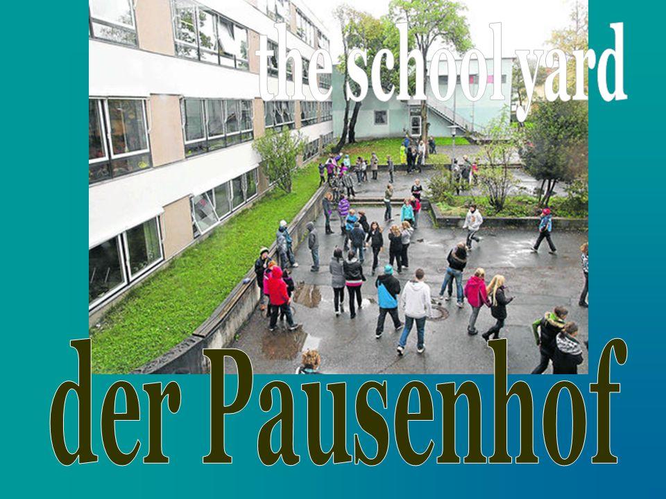 the school yard der Pausenhof