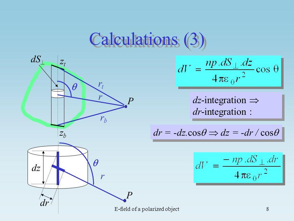 E-field of a polarized object