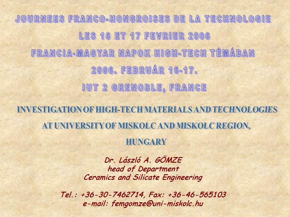 JOURNEES FRANCO-HONGROISES DE LA TECHNOLOGIE LES 16 ET 17 FEVRIER 2006