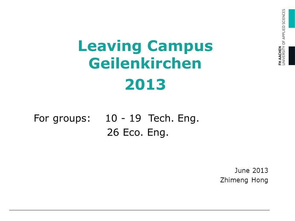 Leaving Campus Geilenkirchen