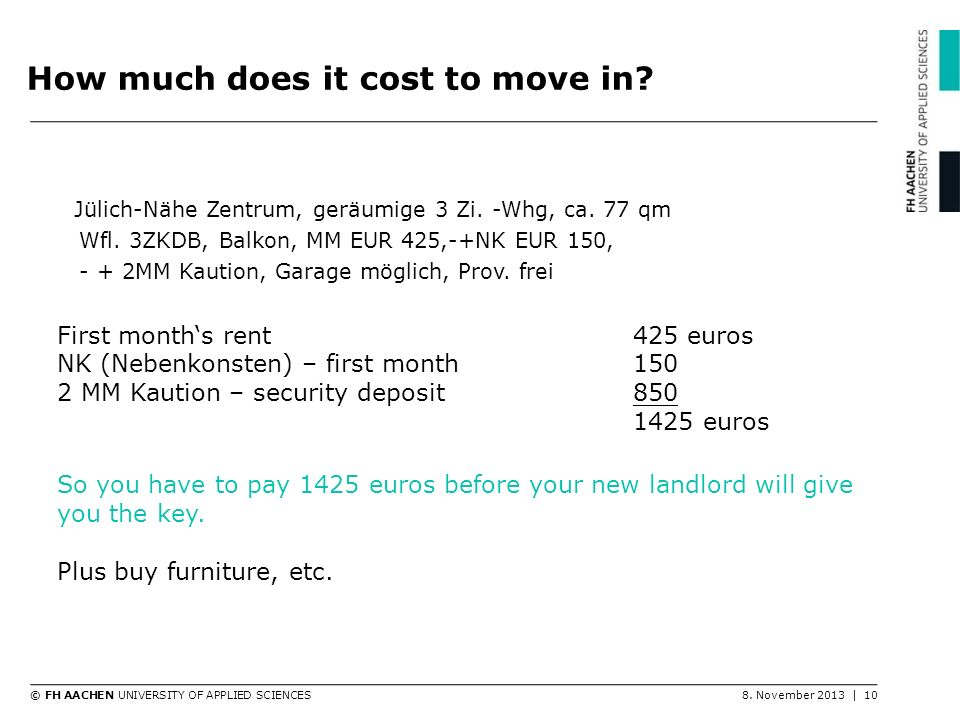 How much does it cost to move in
