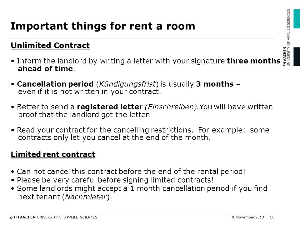 Important things for rent a room