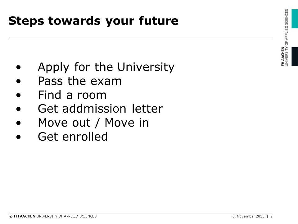 Steps towards your future